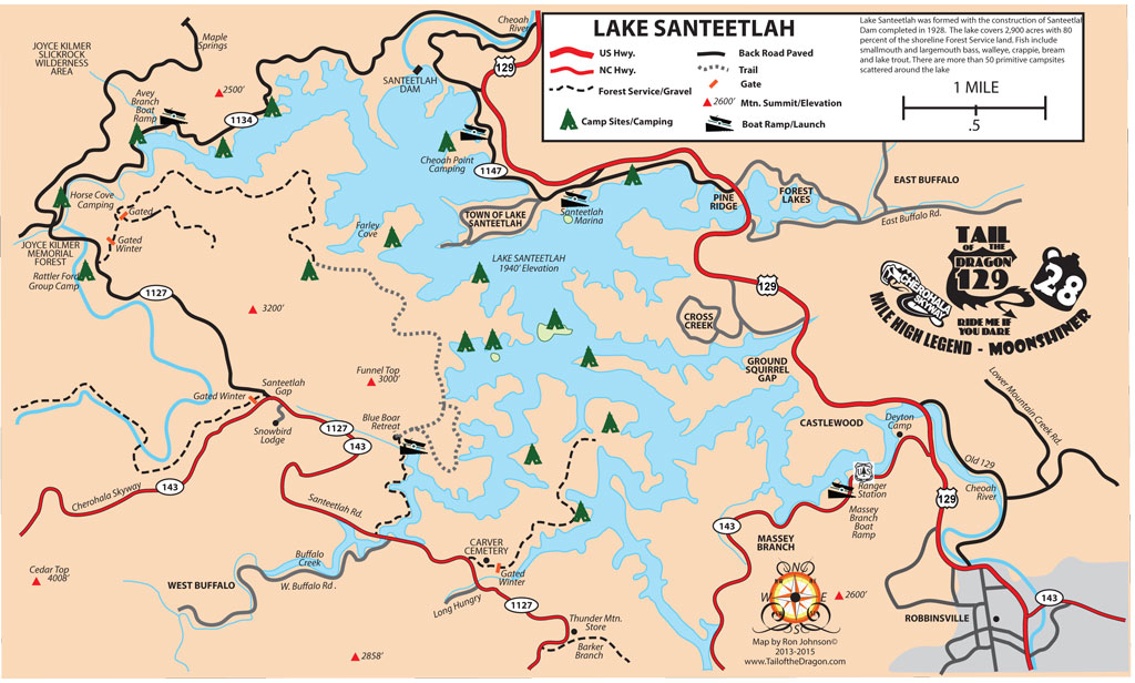 Lake Santeetlah Map